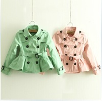 2014 Hot Sale new autumn brand children coat&outerwear,floral kids girls coat,designer girls reversible jacket,girls thrench