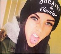 Free ship Hot Selling New Cocain & Caviar Style Fashion Men Women Skull Beanie Hat Winter Fall Hiphop Warm Cap