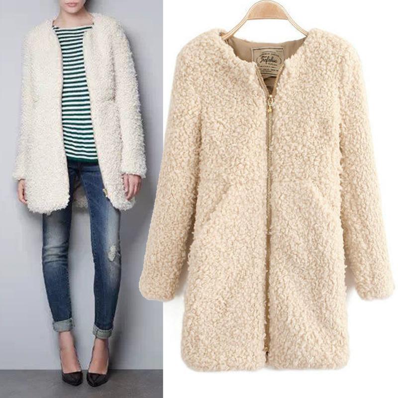 New arrival brand designer high quality fashion woman winter coat casaco sobretudo feminina lambs wool coat(China (Mainland))