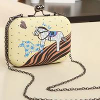 Lovely Zebra Women Handbag Horse Pattern Printing Case Bag Mini Casual Bag Girls Evening Bag High Quality Women Shoulder Bag