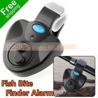 Fish Finder Sound Alarm Alert Bell Fish Bite Finder Alarm For Fishing LED Light Clip On Electronic Free Shipping