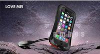 10pcs/lot  Luxury LOVE MEI Waterproof Powerful Case for iPhone 6 (4.7'') free shipping