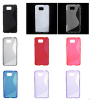 50PCS /LOT S-line Pattern TPU Gel Case for Samsung Galaxy Alpha SM-G850F SM-G850A