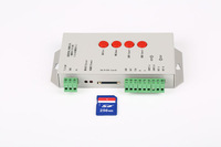 2014 New T-1000S SD card led pixel controller,support  WS2801,LPD6803,WS2811,TM1804,TM1809,LPD8806Etc;max 2048pixels controlled