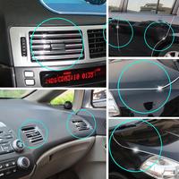 DIY Car Auto Truck Door Edge Guard Trim Molding Strip Protector 15M Silver air outlet U Decorative strip
