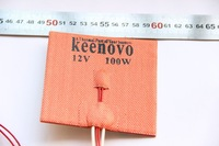 100mm X 100mm, 100W@12V, w/ 3M PSA & NTC 100K Thermistor,Keenovo Silicone Heater Pad,3D Printer Heater,Heatbed, Free Shipping