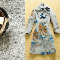 Luxury Brand Runway Plus Size X-Long Wool Blends Coat Woolen Trench Coat For Winter 2014 New Women's Double Breasted Overcoat