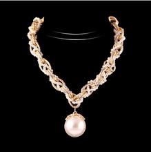 New 2014 Hot-Selling  Popular Fashion Jewelry Luxury Large Pearl Korean Fashion Rhinestone Necklaces &Pendant Necklaces N1674