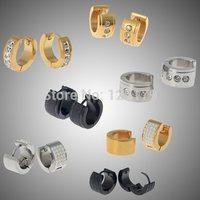Small Hoop Earring Austrian Crystal Earrings Stainless Steel Jewelry  Earrings for Women 8 Style U Pick