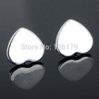Hot Sale! Wholesale 925 Silver Plated Earrings Fashion Heart Ear Stud Earrings Women Jewelry