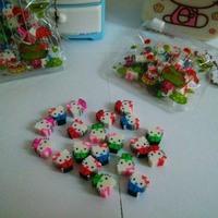 Free shipping 120pcs/6set/lot kawaii Cartoon Hello kitty Eraser Cute pencil erasers for Kids Korean Creative novelty stationery