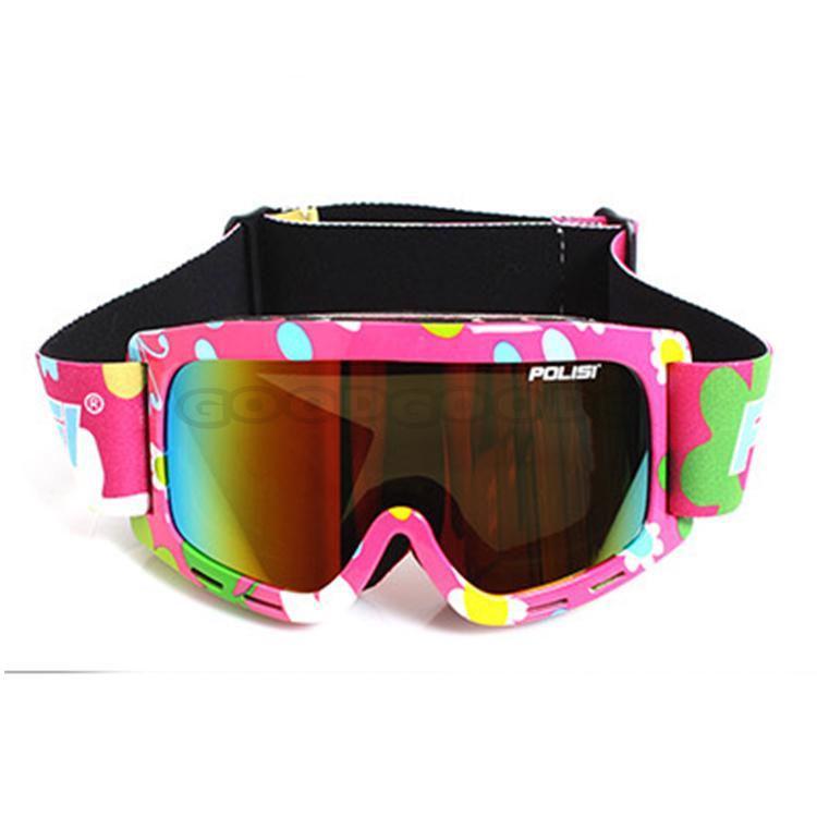 New POLISI Ski Snowboard Eyewear Anti-Fog Sled Skate Sporty UV400 Goggles Windproof Snowmobile Glasses Free Shipping(China (Mainland))