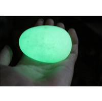 45mm -48mm Green Glow Calcite Glow In Luminous Crystal Egg The Dark Stone Ball Sphere egg Healing Wholesale