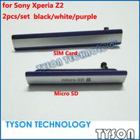 Original Micro SD Card SIM Card Dust Plug Block Cover Set for Sony Xperia Z2 Free Shipping