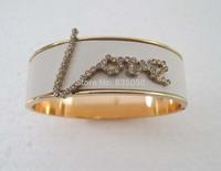 Gold GP Fashion women Love Letter Design Bangle Bracelet SY017 Free shipping