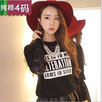2014 The new  style  Big yards hoodies  women's easy printing hoodies 5228 free shipping