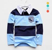 2014 Best Selling long sleeved babi boy t shirt,Classic striped children's t -shirt, high quality cotton t-shirts for boy100-160