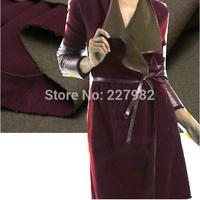 MaxM's custom red purple camel and dual color heavy cashmere coat fabrics