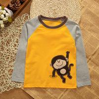New 2014 Hot Sales Children's T-shirt Baby Boy Long Sleeves T Shirts Child Children's Clothing Free Shipping Cartoon T-shirt