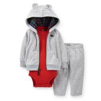 RetailOriginal Carter's Baby Boys 3 Piece Fleece Fabric Bodysuit Pant Set,Newborn Baby Clothes Baby Rompers Autumn&Winter