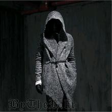 Harajuku 2014 Gothic Winter Fashion Slim Fit Dress Mens Pea Coat With Hood Wool Coat For Men Jackets And Coats Peacoat plus size(China (Mainland))
