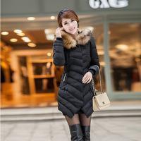 2014 new women fashion  fur collar Striped coat