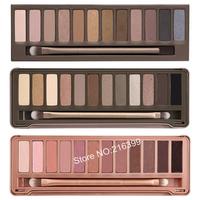 3pcs/lot Wholesale 2014 New NAKE Makeup Set 12 Colors Palette NK 1 2 3 Eyeshadow Palettes with Brush