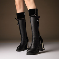 Free shipping 2014 autumn and winter fashion high boots side zipper in the rough boots with Martin women boots.
