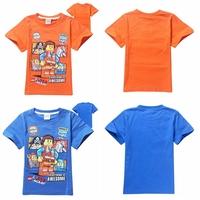 Wholesale Summer Cartoon The lego movie cotton short sleeve Boys t-shirts wholesale cotton baby clothes 807