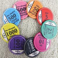 Las Vegas Poker 100 transparent Packed Crown paragraph chips baccarat chips 14 g star models chips par value stock