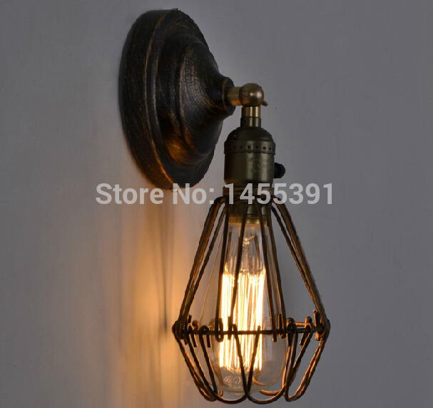 America Vintage Wall Lamp Vintage Light Lamp Bulb Black Bronze AC 90-240V For Home Decor Restauran Dinning Coffee Shop(China (Mainland))