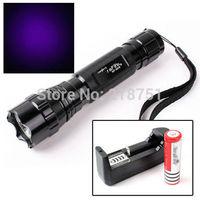 2014 Hot UV Purple 5W Ultrafire CREE LED WF-501B Light Flashlight Torch Lamp 1 Mode + 1 * 18650 + Charger - Free Shipping