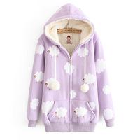 Hot Winter&Autumn Women Sweatshirts Cotton Thick Hoodies Lambs Wool Casual Women Jecket  Free Shipping Z432