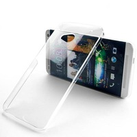 For HTC one 802t 802w 802d New Transparent Case Hard Plastic Crystal Clear Luxury Protective Cover Lily's Shop