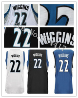 2014 Andrew Wiggins Basketball Jersey black white blue New Rev 30 Jerseys Stitched Letters Number Mix order Drop Shipping Accept