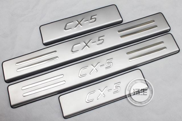 Mazda CX-5 CX5 нержавеющая сталь накладка плита дверь накладкой порога для Mazda CX 5 автомобиль аксессуары