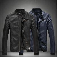 leather jacket men Men's Clothing 2014 fashion casual Fur clothing jackets coat High quality wholesale size 5XL free shipping