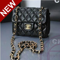 Girl's Mini PU Leather Purse,Clutch With Chain,2014 Fashion French Women's Messenger Crossbody Best Evening Shoulder Bags,SJ093