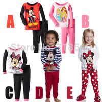 FREE SHIPPING 5sets/lot children pajamas children clothing sets kids pajama set with 5 styles