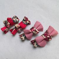 Wholesale 24pcs Mini Foral Cotton Bow Hair Clip Cute Pink Hair Bows Baby Girls Hairpin Popular Girl's Headware Headpiece