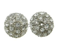 Free shipping!!!Rhinestone Zinc Alloy Beads,Wedding, Round, platinum color plated, with rhinestone, nickel, lead & cadmium free