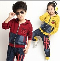 CBRL wholesale 2014 boy girl new  style fashion children clothing spring, autumn, two-piece suit children's clothing 8863