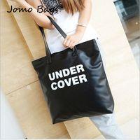 2014 Hot UN Simple Fashion PU Leather Shoulder Bag Large Capacity Commuter Female Bag Big Letters Handbags Wholesale z2951