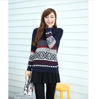 free shipping wholesale 2014 new Korean Snow lovely blouse pullover  sweater