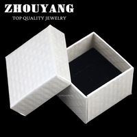 ZY-JPR002  Top Quality EU Royal Diamond Cut Lines PU Embossing Princess White Color  PACKAGING Jewelry BOX For Ring And Earrings