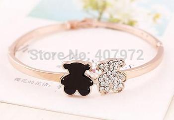 2014 женщины медвежонок симпатичный медведь роуз золото браслеты браслеты T6175