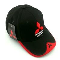 F1 formula one team racing cap black embroideried Mitsubishi racing car driver sport baseball cap cool fashion sport casual cap