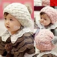 2014 Hot Sales Baby hat kid crochet cap Winter Hat Knitting Wool Crochet Beanie Cap 5400