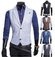 men vest 2014 new waistcoat men fashion dress vests for men  slim fit vest man suit vest clothing colete masculino terno