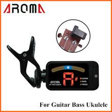 Аромат AT-100 портативный черный клип на тюнер универсальная для хроматической гитара бас гавайская гитара Высокое качество(China (Mainland))